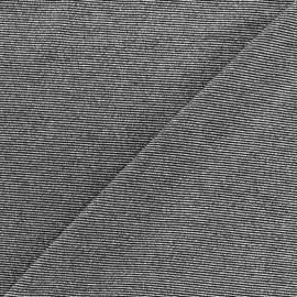 Tissu Maille viscose lurex Party noir et argent x 10cm