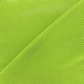 Polyester fishnet fabric - ligth green x 10cm