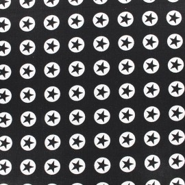 Cotton fabric Super Stars - black x 10cm