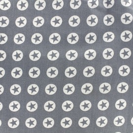Cotton fabric Super Stars - grey x 10cm