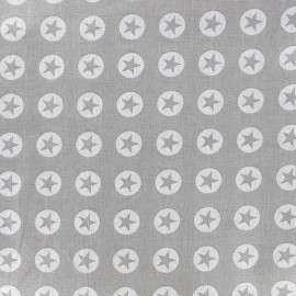 Cotton fabric Super Stars - light grey x 10cm