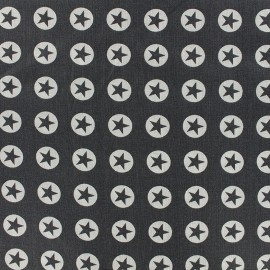 Cotton fabric Super Stars - anthracite x 10cm