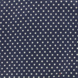 Jeans fabric White stars - dark x 10cm