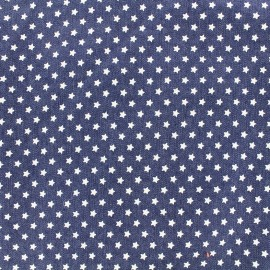 Tissu jeans White stars - light x 10cm