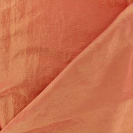 Tissu taffetas uni - abricot  x 10cm