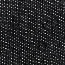 Tissu jacquard gaufré Small dots - noir x 10cm