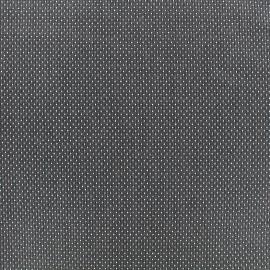 Tissu jacquard gaufré Small dots - anthracite x 10cm