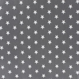 Coated cotton fabric Poppy Triangle - white/grey x 10cm