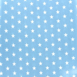 Coated cotton fabric Poppy Triangle - white/light blue x 10cm