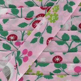 Cotton bias Froufrou oiseau 20 mm - rose petal x 1m