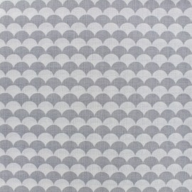 Cotton fabric Ecay - grey x 10cm