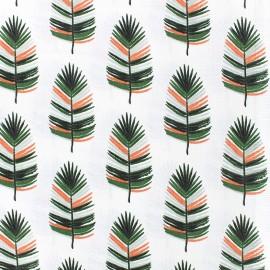Cotton fabric Cazek - white/green x 14cm
