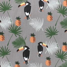 Cotton fabric Toekan - taupe x 12cm