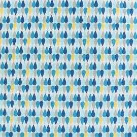Cotton fabric Plima - blue x 10cm