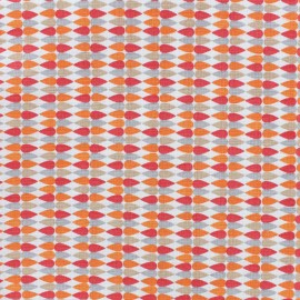 Cotton fabric Plima - orange x 10cm
