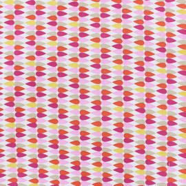Cotton fabric Plima - pink x 10cm