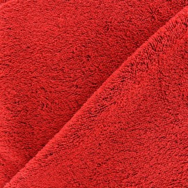 Towel fabric - scarlet red x 10cm