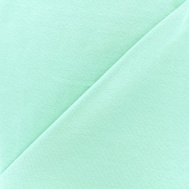 Knitted Jersey 1/1 tubular edging fabric - light mint x 10cm
