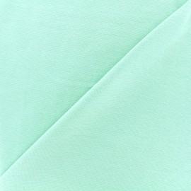 Knitted Jersey 1/1 tubular edging fabric - light mint x 10cm