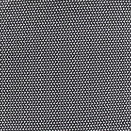 Cotton fabric Trigio - black x 10cm