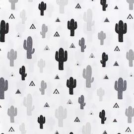 Cotton fabric Cactee - white x 10cm