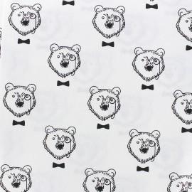 Tissu coton Topof - blanc x 16cm