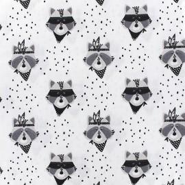 Cotton fabric Raton - white x 16cm
