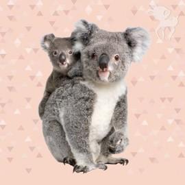 Tissu coton panneau - Koala 70cm x 140cm