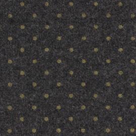 Woolen fabric France Duval - grey golden dots  x 10cm