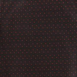 Tissu coton Alven - taupe x 10cm