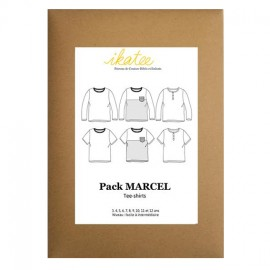 Patron Ikatee Pack Marcel tee shirt 3 à 12 ans