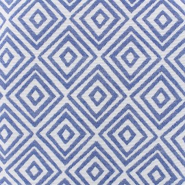 Tissu toile jacquard coton Totem (280cm) - bleu x 14cm