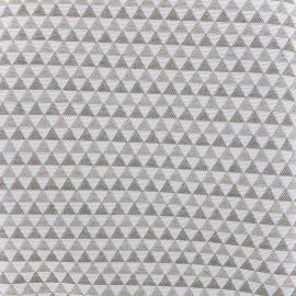 Tissu toile jacquard coton Petit delta (280cm) - lin x 10cm