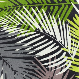 Tissu enduit coton Amazonica - vert x 10cm