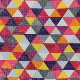 Coated Cotton Fabric Prisme - red x 10cm