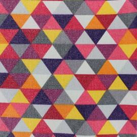 Tissu enduit coton Prisme - rouge x 10cm