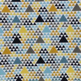 Tissu popeline Géo - turquoise x 10cm