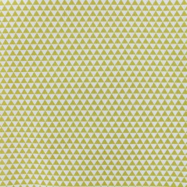 Tissu popeline Petit Delta - jaune x 10cm