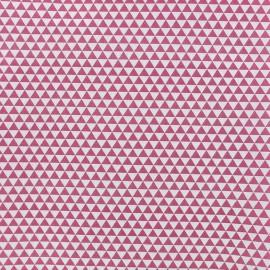 Tissu popeline Petit Delta - fuchsia x 10cm