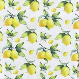 Tissu popeline Citron x 10cm