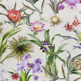 Tissu popeline Fleurs tropicales x 26cm