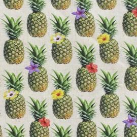 Tissu popeline Ananas x 20cm