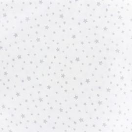 Tissu coton Dosnui - argent x 10cm