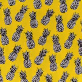 Poppy cotton fabric Pineapple proof - yellow x 10cm