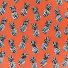 Poppy cotton fabric Pineapple proof - orange x 10cm