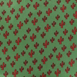 Poppy cotton fabric Cactus - green x 10cm