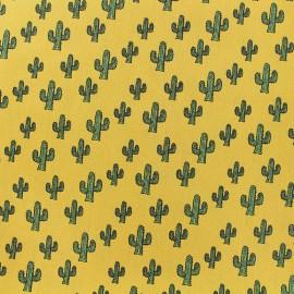 Poppy cotton fabric Cactus - yellow x 10cm