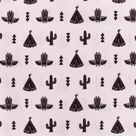 Poppy cotton fabric Saponi - pink x 14cm