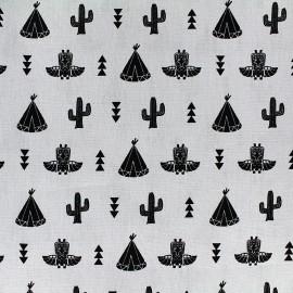 Poppy cotton fabric Saponi - grey x 14cm