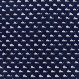 Poppy cotton fabric Marine - navy x 10cm